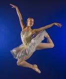 Salto do mid-air da bailarina Fotos de Stock Royalty Free