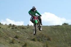 salto do motoX Fotografia de Stock