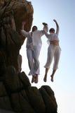 Salto do penhasco Fotografia de Stock
