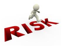 salto do risco do homem 3d Imagens de Stock
