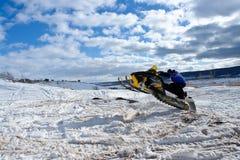 Salto do Snowmobile Imagens de Stock Royalty Free