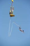 Salto do tirante com mola do menino Imagem de Stock Royalty Free