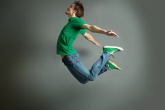 Salto e mosca Fotos de Stock