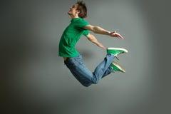 Salto e mosca Fotografie Stock