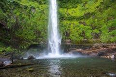 Salto El Claro waterfall, Pucon (Chile) Royalty Free Stock Photos