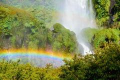 Salto El Leon waterfall, Pucon (Chile) Stock Image