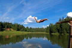 Salto elegante Foto de Stock Royalty Free