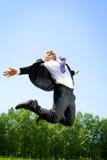 Salto elevado. Imagens de Stock