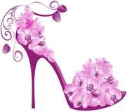 Salto elevado das orquídeas ilustração stock