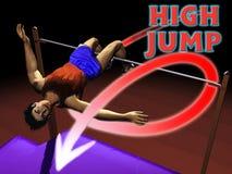 Salto elevado do atletismo ilustração royalty free