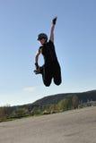 Salto elevado em patins inline Imagem de Stock Royalty Free