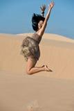 Salto en las dunas Fotografía de archivo