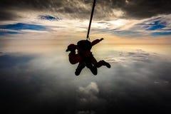 Salto en tándem Fotos de archivo