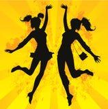 Salto felice! Fotografia Stock Libera da Diritti