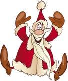 Salto felice del Babbo Natale Immagine Stock