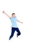 Salto felice del ragazzo Immagine Stock Libera da Diritti