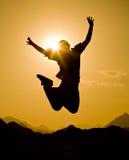 Salto feliz Imagen de archivo libre de regalías