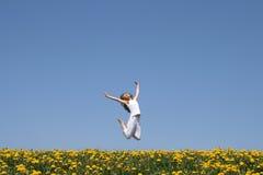 Salto feliz! imagens de stock royalty free