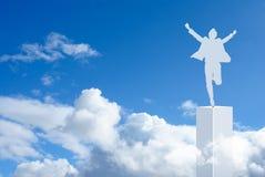 Salto feliz de la victoria Foto de archivo libre de regalías