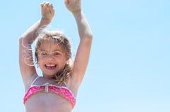 Salto feliz del verano Imagenes de archivo