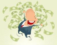 Salto feliz dos homens de negócios Foto de Stock