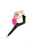 Salto femenino del bailarín Fotografía de archivo