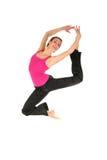 Salto femenino del bailarín Foto de archivo