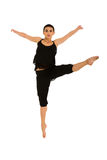 Salto femenino del bailarín imagen de archivo libre de regalías