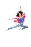 Salto femminile del ballerino Fotografia Stock Libera da Diritti