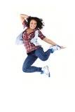 Salto femminile del danzatore Fotografie Stock Libere da Diritti