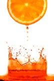 Salto fresco de la naranja foto de archivo
