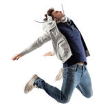 Salto fresco dell'uomo Fotografie Stock