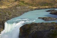 Salto grand, parc national de Torres del Paine, Chili Images stock