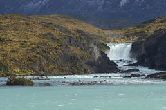 Salto grand, parc national de Torres del Paine, Chili Photos stock