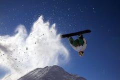 Salto grande del snowboard Fotografía de archivo