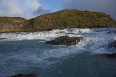 Salto grande, parco nazionale di Torres del Paine, Cile Fotografie Stock Libere da Diritti