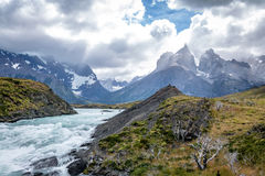 Salto Grande at Torres del Paine National Park - Patagonia, Chile Royalty Free Stock Image