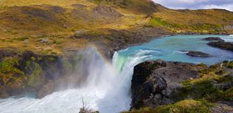 Salto Grande waterfall, Torres del Paine, Chile stock photography