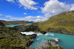 Salto Grande waterfall, Torres Del Paine National Park, Patagonia, Chile. Southamerica Royalty Free Stock Photography