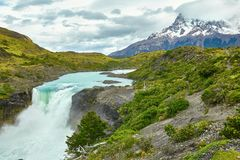 Salto Grande waterfall in Torres del Paine Stock Images
