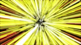 Salto híper de la animación que se mueve a través de las estrellas amarillas en universo libre illustration