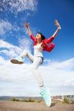 Salto hermoso de la muchacha de baile Imagen de archivo libre de regalías