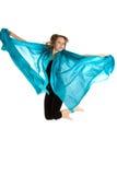 Salto hermoso joven de la mujer Imagen de archivo libre de regalías