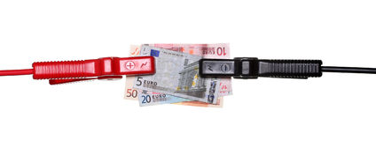 Salto-início aos euro Foto de Stock