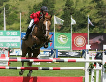 Salto internacional equestre da mostra Fotos de Stock Royalty Free