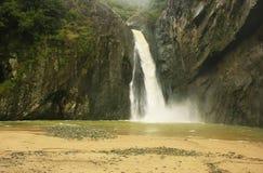 Salto Jimenoa Uno瀑布, Jarabacoa 免版税图库摄影