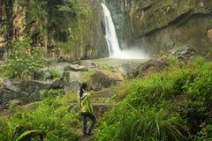 Salto Jimenoa Uno waterfall, Jarabacoa Royalty Free Stock Photo