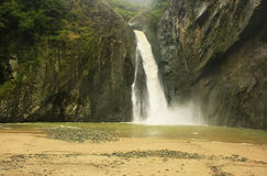 Salto Jimenoa Uno waterfall, Jarabacoa Royalty Free Stock Photography