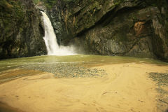 Salto Jimenoa Uno waterfall, Jarabacoa Stock Photography