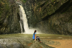 Salto Jimenoa Uno waterfall, Jarabacoa Stock Photo